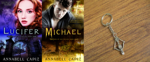 michael giveaway Books and keychain