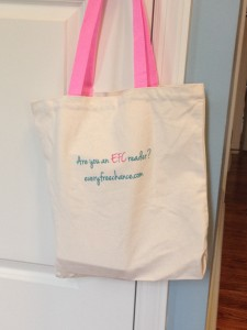 an even groovier (but less hand-painted) collection of some of our favorite books stuffed in an embroidered canvas EFC tote bag