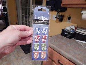 And she sent me these super awesome magnetic bookmark clips. I love them!! And the colors are fantastic!